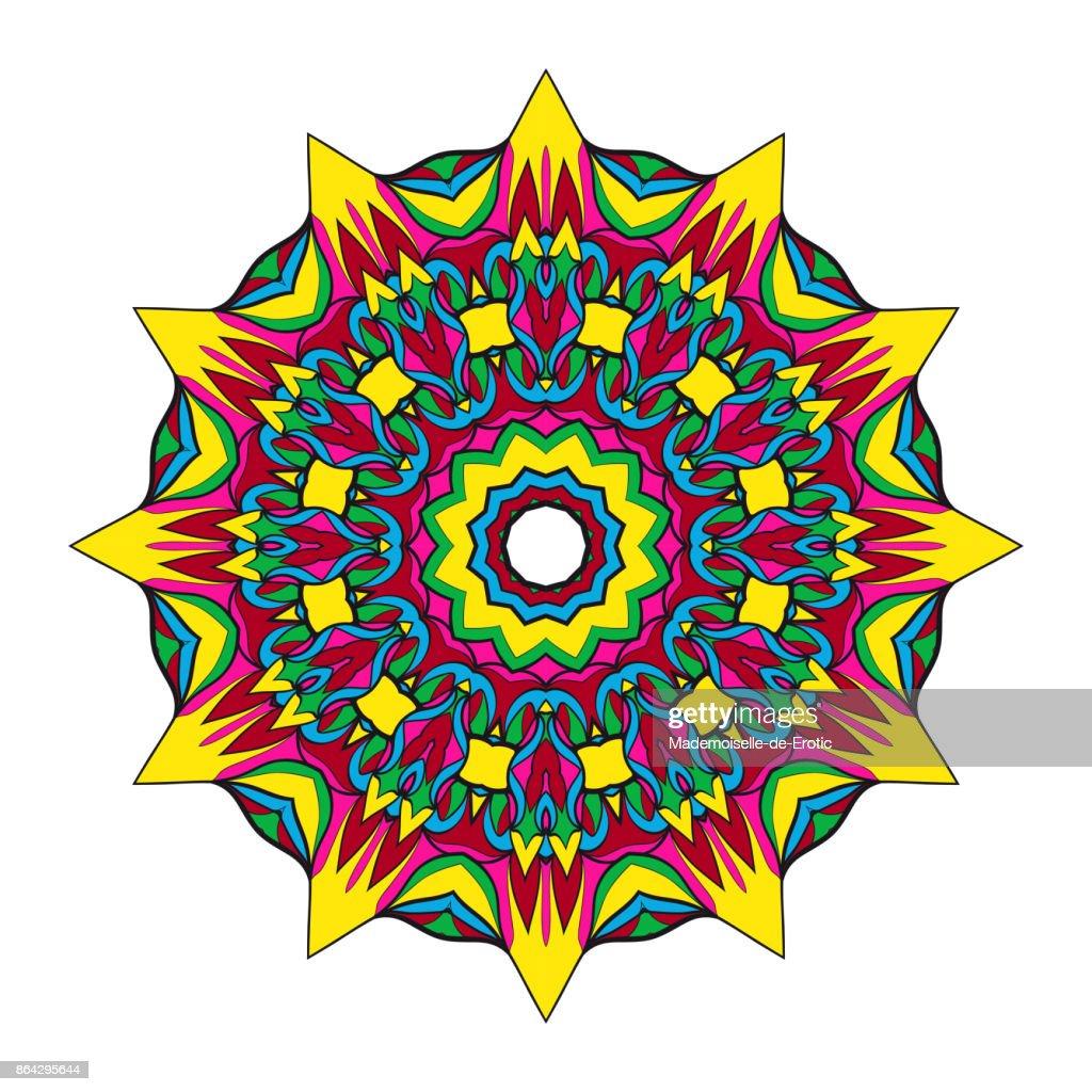 Mandala Tattoo Kleurplaten.Mandala Ontwerp Met Bloemen Vector Ronde Patroon Kleurplaat Voor De