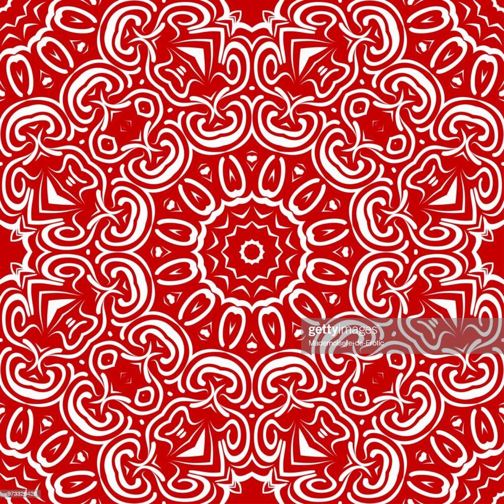 Flower mandala. Printable decorative elements. Vector illustration for design