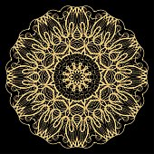 Flower mandala. Printable decorative elements. Vector illustration for design.