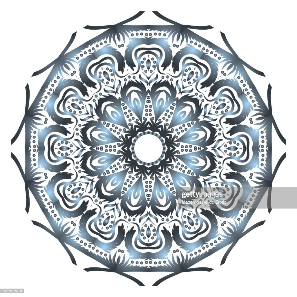 Flower mandala. Printable decorative elements. Vector illustration