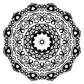 Flower mandala. Printable decorative elements. Vector illustration