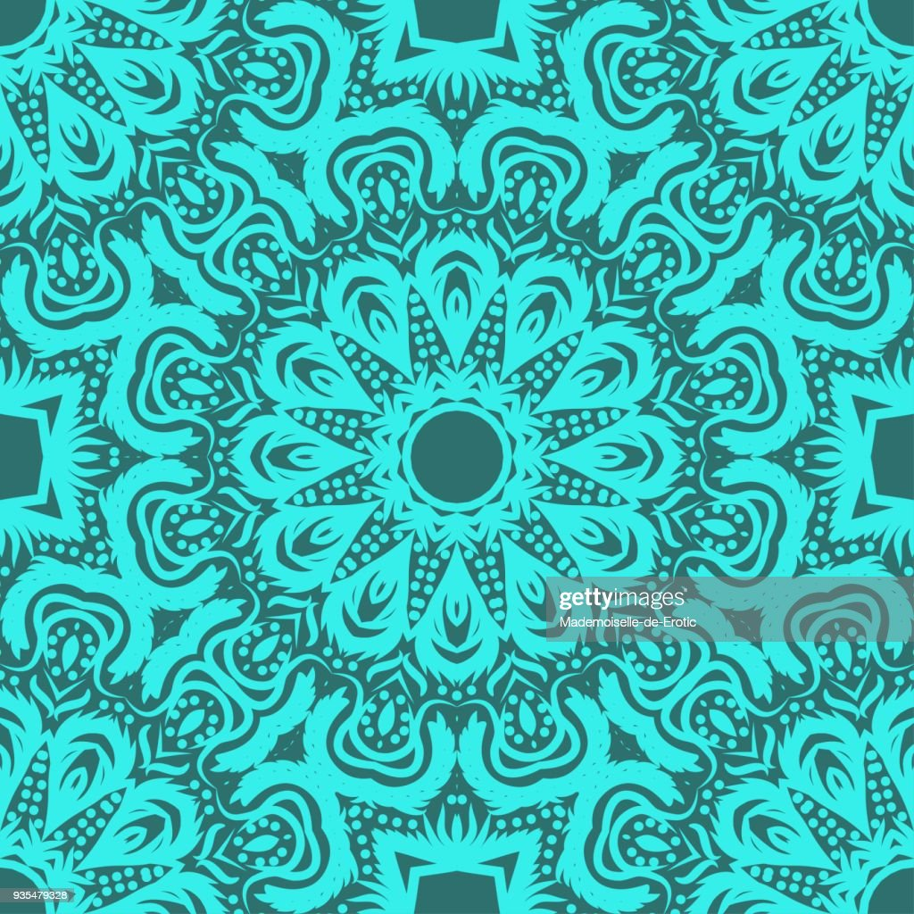 Flower mandala. Printable package decorative elements. Coloring page template. Vector illustrations.