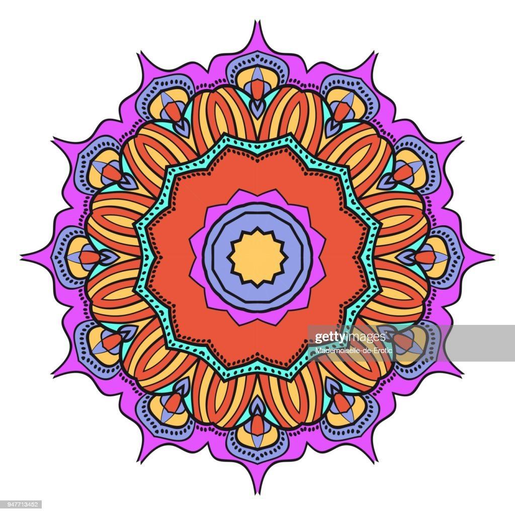 Flower mandala. Printable package decorative elements. Coloring page template. It is Vector illustrations