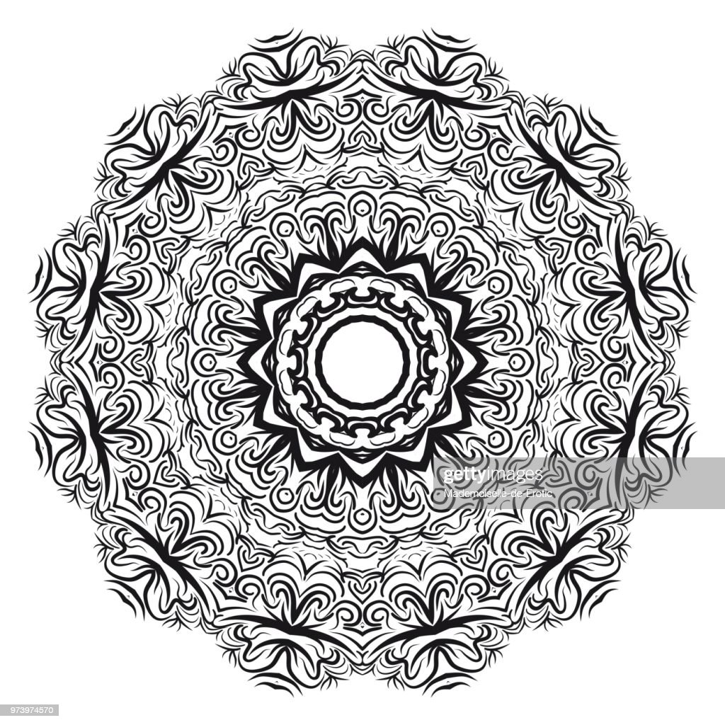 Flower mandala. Printable package decorative elements. Coloring page template. It is fantastic vector illustrations