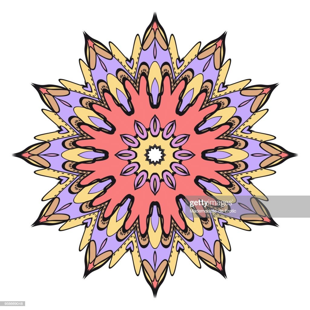 Flower mandala. Very printable decorative elements. Vector illustration for design.