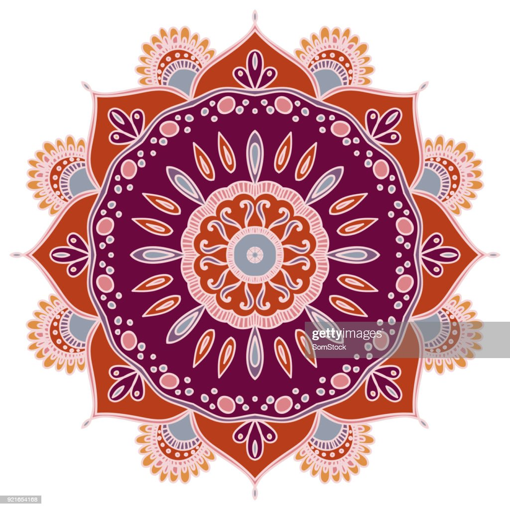 Flower Mandala. Vintage decorative element.
