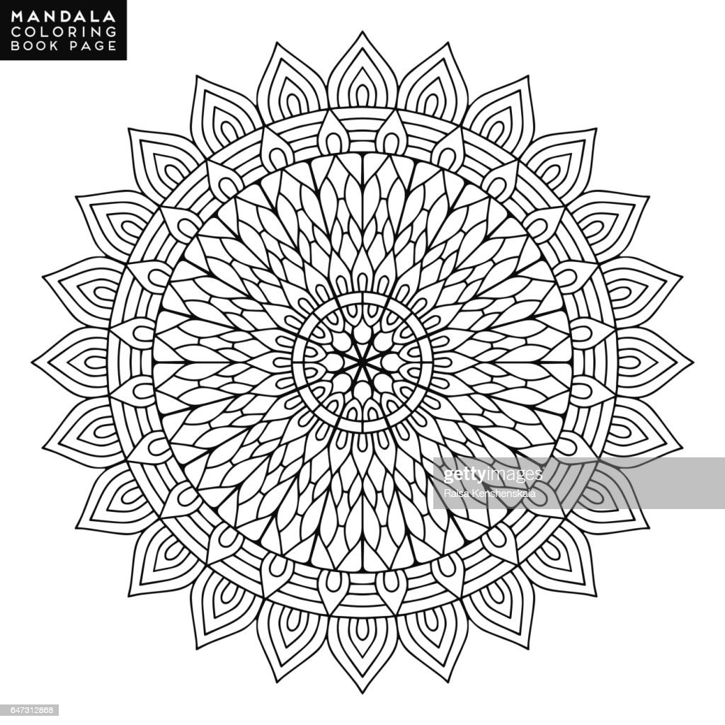 Flower Mandala Vintage Decorative Elements Oriental Pattern Vector ...