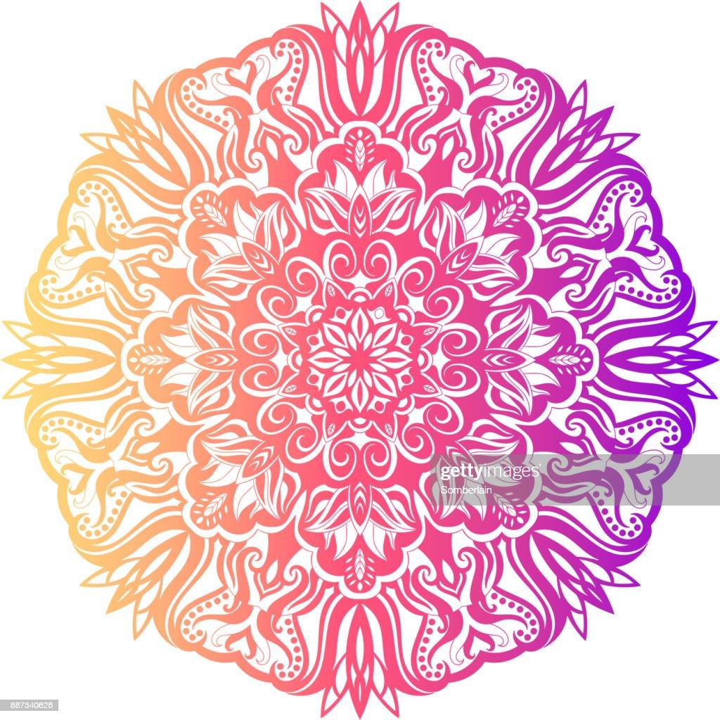 Flower Mandala Vintage Decorative Elements Vector Art | Getty Images