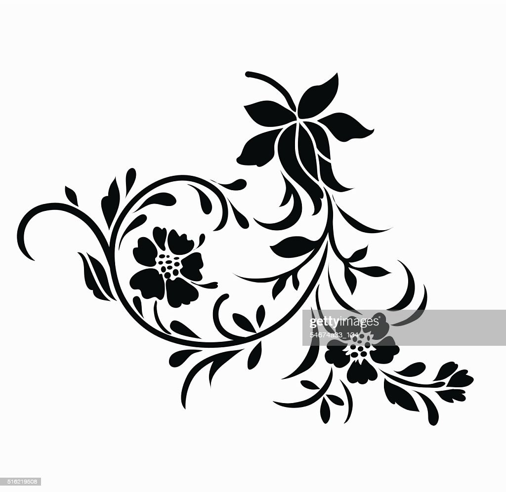 Flower motif for design.