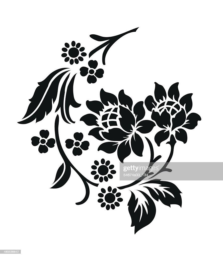 Flower motif,Flower design elements vector