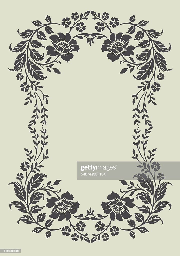 Flower motif,Flower design elements vector