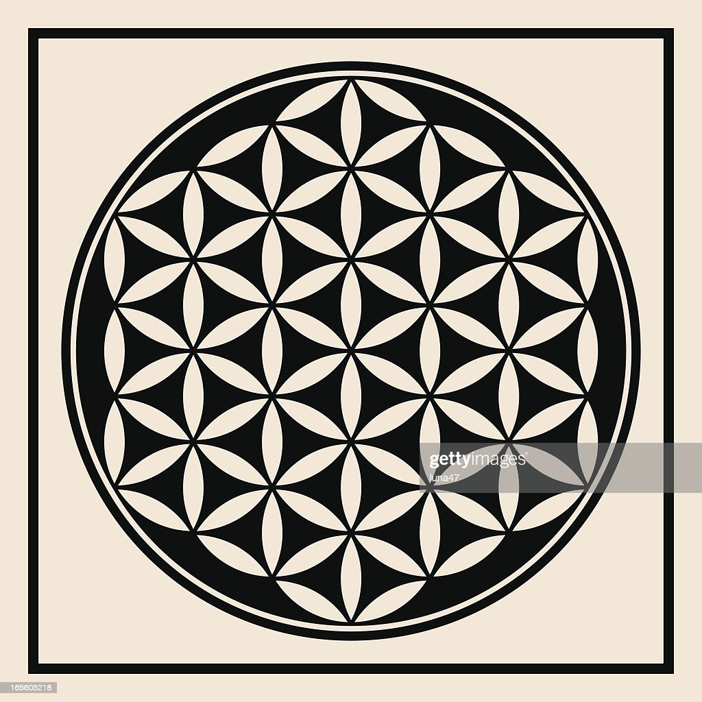 Flower Of Life Symbol Vector Art Getty Images