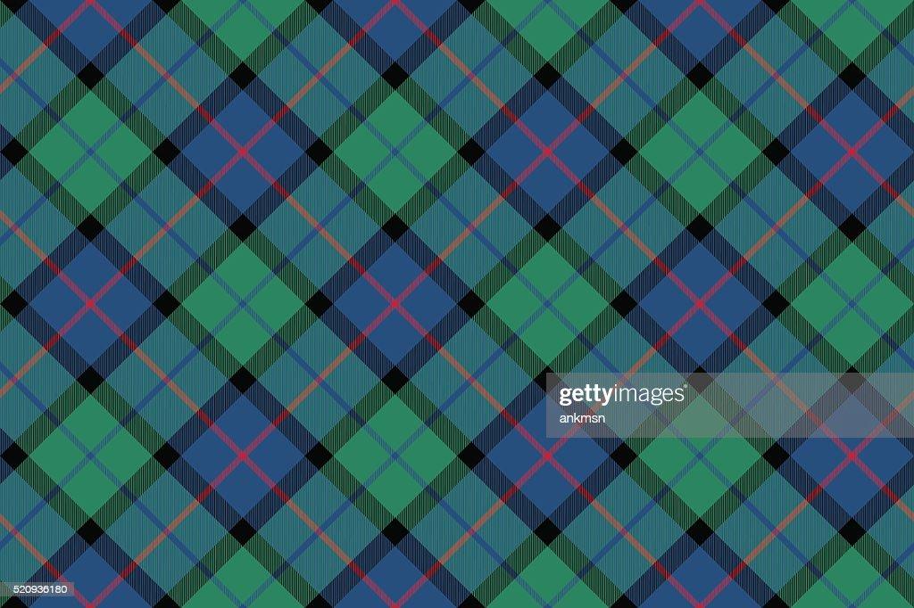 flower of scotland tartan fabric texture seamless diagonal pattern