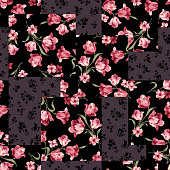 Flower patchwork pattern
