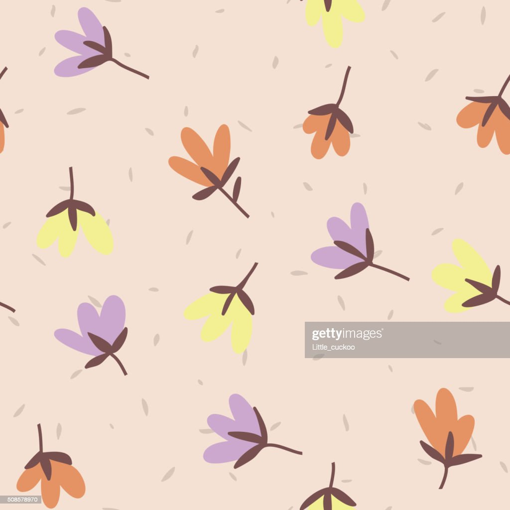 Flower pattern. Spring vector hand-drawn doodle : Vector Art
