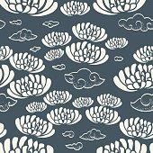 Flower seamless pattern vintage style