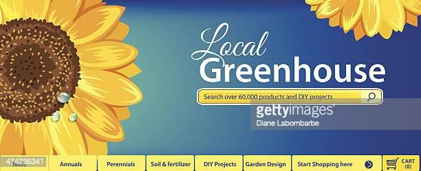 Flower Shop Or Gardening Web Banner Template