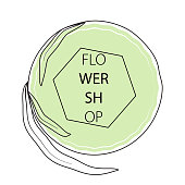 flower shop sticker label template
