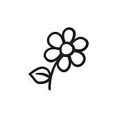Flower sketch icon