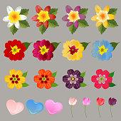flower valentine love element set