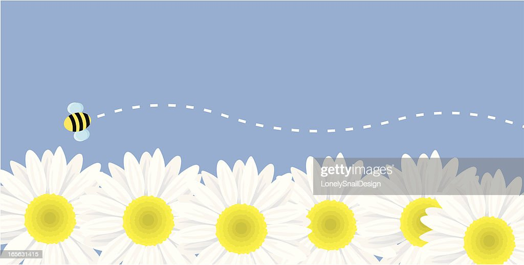 Flowers and Bee : stock illustration