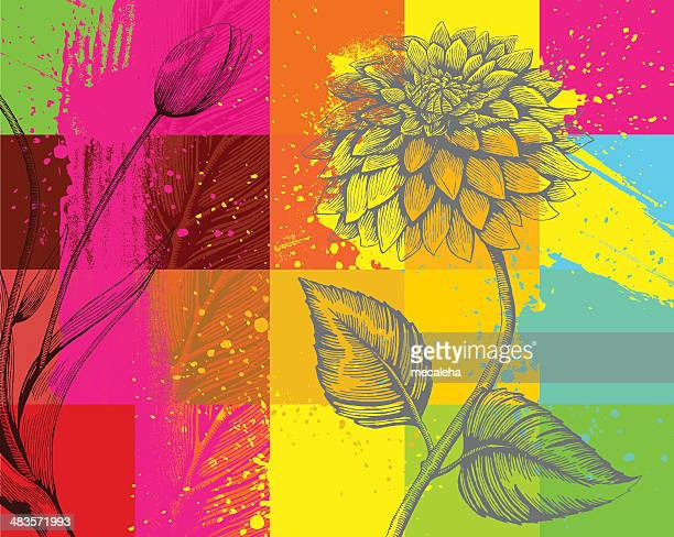 Flowers in squares