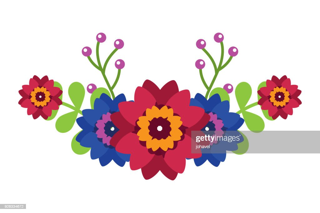 flowers leaves decoration arrangement natural