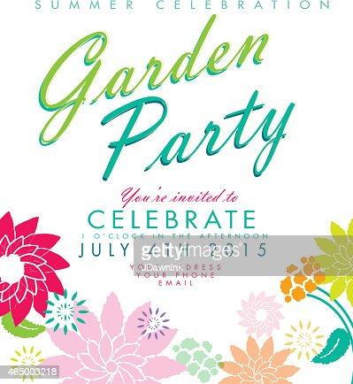 Garden party invitation template vector art getty images keywords stopboris Choice Image
