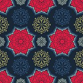 Flowers pattern. Abstract seamless wallpaper.