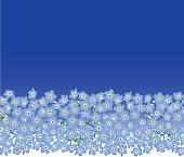 Flowers seamless border texture.
