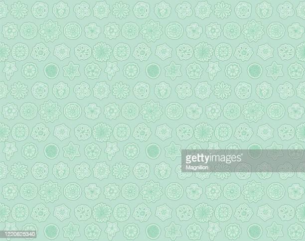 blumen nahtlose muster doodle - tapete stock-grafiken, -clipart, -cartoons und -symbole