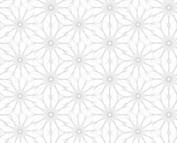 flowers. seamless pattern of flowers on white background - femininity stock illustrations