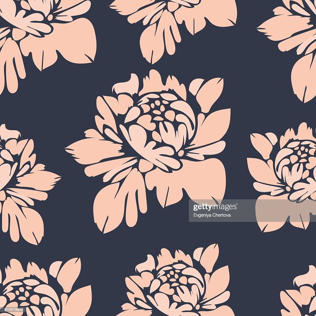 Flowers Seamless Pattern Vintage Floral Background High Res Vector