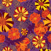 Flowers seamless wallpaper