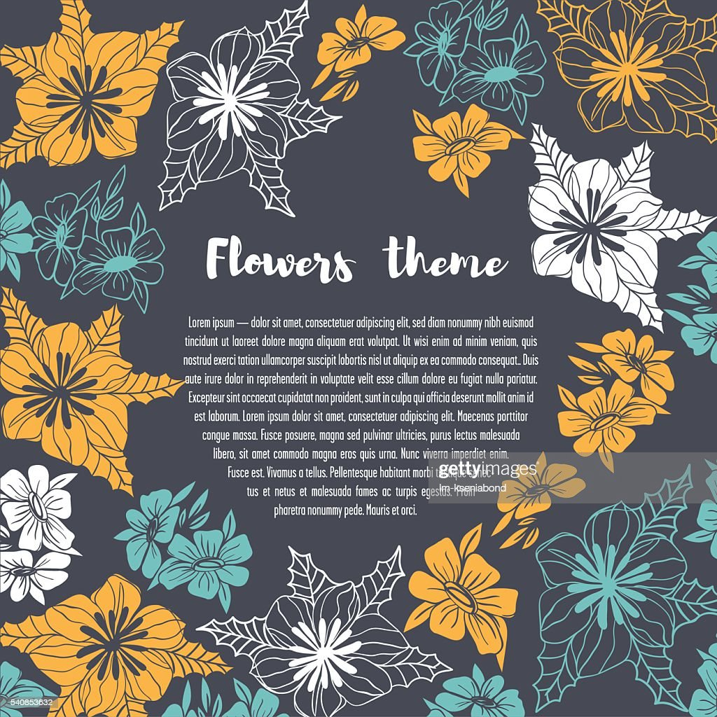 Flowers template card