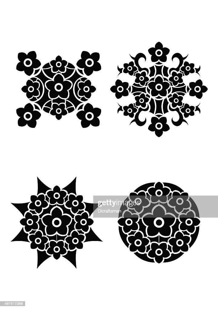 Blumen Tribal Tattoo Stock Illustration Getty Images