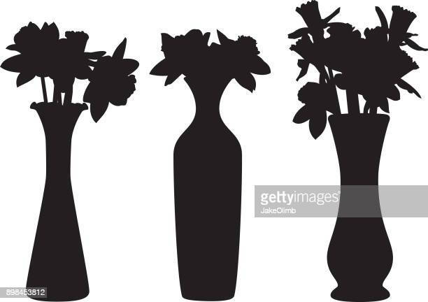 Flowers Vases Silhouettes