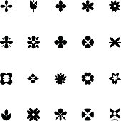 Flowers Vector Icons 1