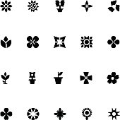 Flowers Vector Icons 2