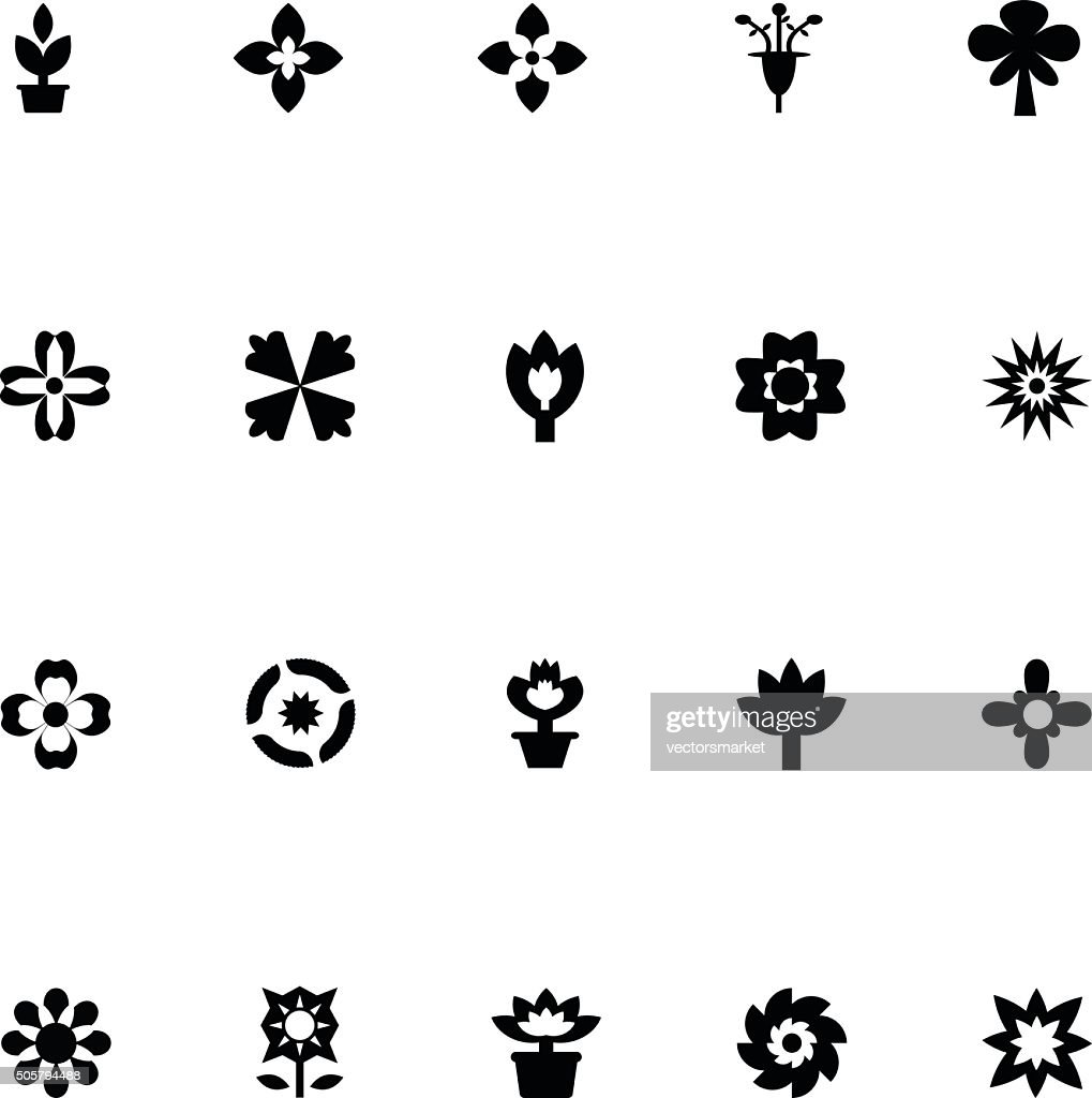 Flowers Vector Icons 4