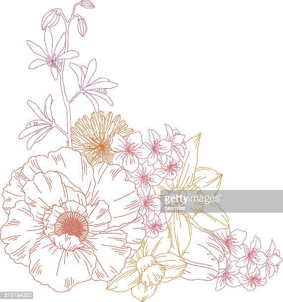 flowers - single flower stock illustrations