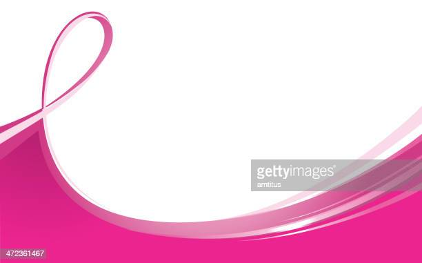 flowing ribbon - cancer illness stock illustrations, clip art, cartoons, & icons