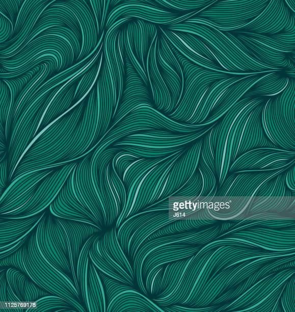 flowing - line art stock illustrations