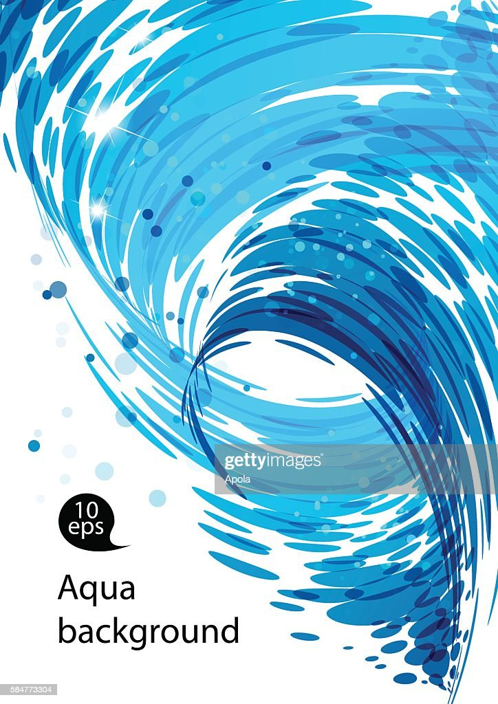 Flowing water, abstract blue background