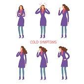 Flu and cold symptoms set
