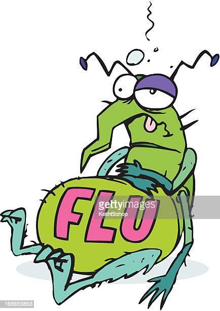 インフルエンザ虫病カットイラスト、 - インフルエンザ菌点のイラスト素材/クリップアート素材/マンガ素材/アイコン素材