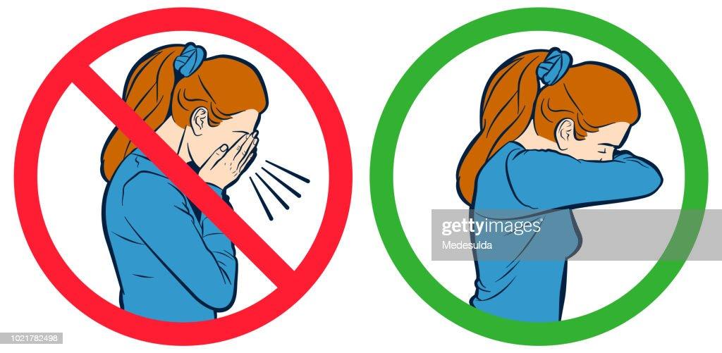 インフルエンザ咳ベクトル記号 : ストックイラストレーション
