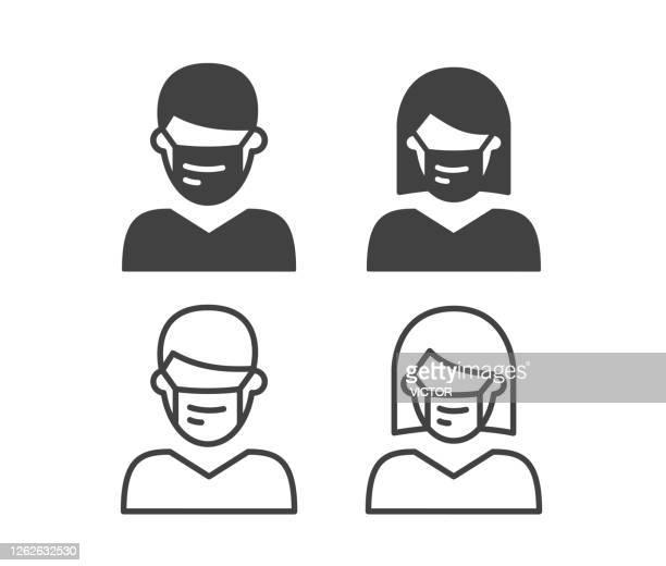 flu マスク - イラストアイコン - 外科医点のイラスト素材/クリップアート素材/マンガ素材/アイコン素材
