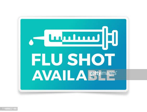 flu shot available - injecting stock illustrations
