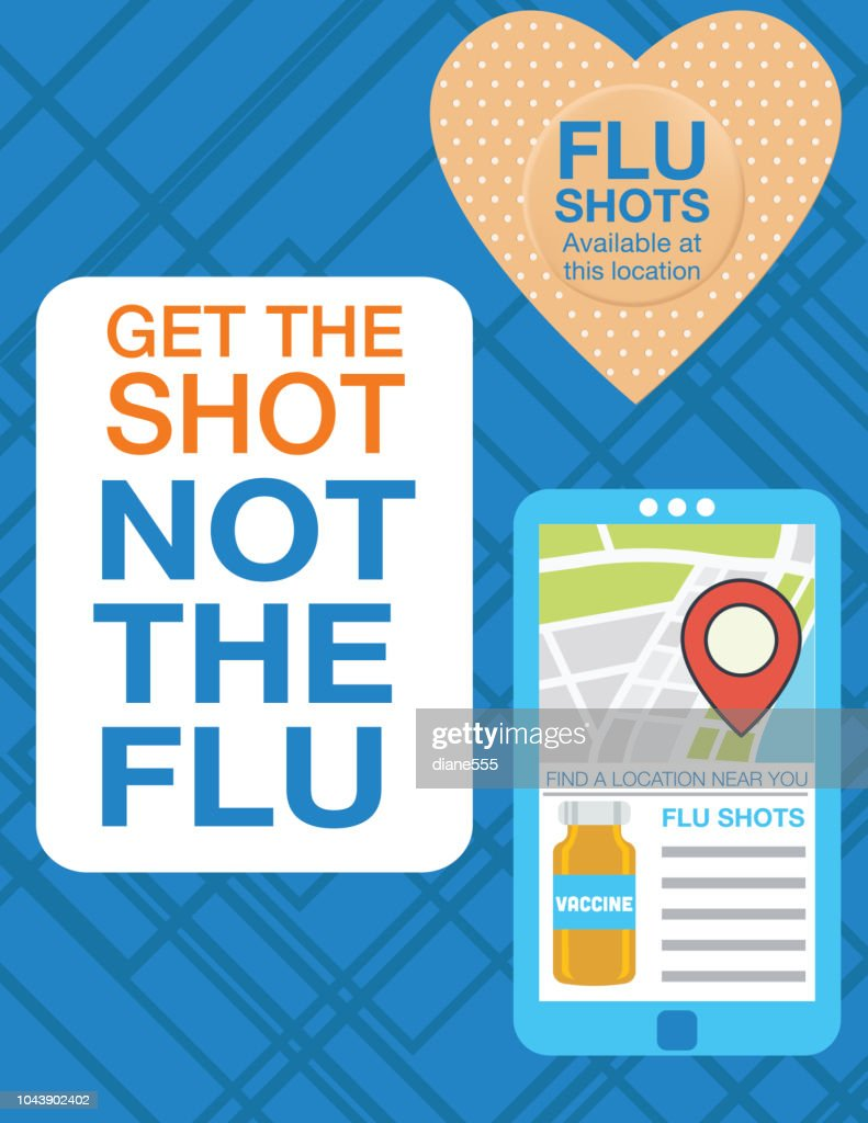 flu shot clinic poster on abstract background vector art getty images